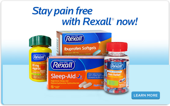 Stay pain free with Rexall® now!
