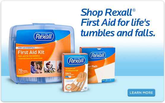 Shop Rexall® First Aid for life's tumbles and falls.